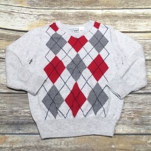 Children's place boys argyle sweater - 2T